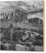 The Stormy Superstitions Wood Print