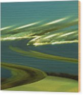 The Story Of Waves And Wind Wood Print