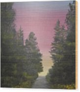 The Straight And Narrow Path Wood Print