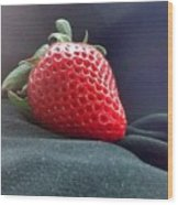 The Strawberry Portrait Wood Print