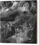 The Stream In Bw Wood Print