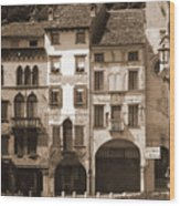 The Streets Of Vittorio Veneto Wood Print