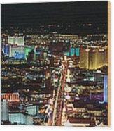 The Strip At Las Vegas,nevada Wood Print