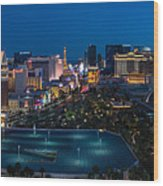 The Strip Las Vegas Wood Print
