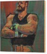 The Strongman Wood Print