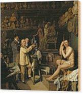 The Studio Of Jean Antoine Houdon Wood Print