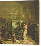 The Studio Of The Painter, A Real Allegory Wood Print