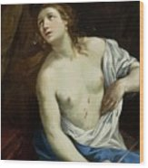 The Suicide Of Lucretia 1640 Wood Print