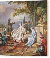 The Sultana Served By Her Eunuchs Wood Print