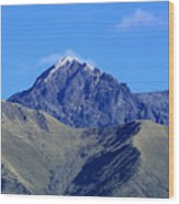 The Summit Of Mount Cotacachi Wood Print