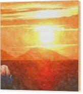 The Sun Dance Wood Print