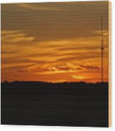 The Sun Has Set In Cape Cod Wood Print