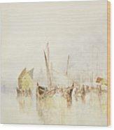 The Sun Of Venice Wood Print