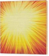 The Sun Wood Print