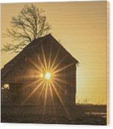 The Sun Rises Wood Print