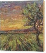The Sun Rising / El Sol Naciente Wood Print