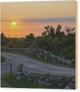 The Sun Sets On Block Island Wood Print