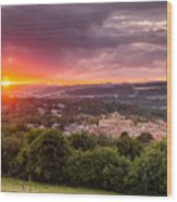 The Sun Sets Over Hexham Wood Print