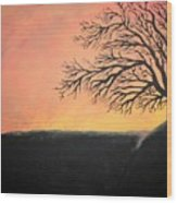 The Sun Was Set Wood Print