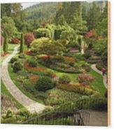 The Sunken Garden At Butchart Gardnes Wood Print