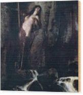 The Surf 1883 Wood Print