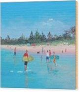 The Surfers Wood Print