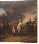 The Surrender Of Lord Cornwallis At Yorktown Wood Print