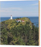 The Swallowtail Lightstation Wood Print