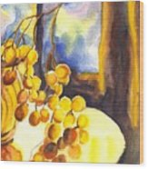 The Sweeter The Grapes Wood Print