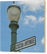 The Sweetest Street Corner In The World Wood Print