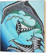 The Swimmer Wood Print