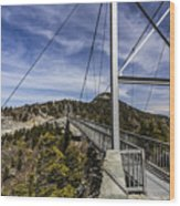 The Swinging Bridge Of Grandfather Mountain Wood Print