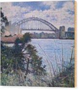 The Sydney Opera House And Harbour Bridge. Australia 2007  Wood Print