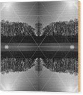 The Symmetry Of Light  Wood Print