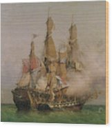 The Taking Of The Kent Wood Print by Ambroise Louis Garneray