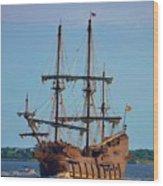 The Tall Ship El Galeon Wood Print