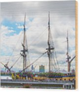The Tall Ship Hermione - Philadelphia Pa Wood Print