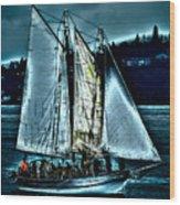 The Tall Ship Lavengro Wood Print