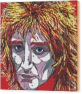 The Tartan Of Rod Stewart Wood Print