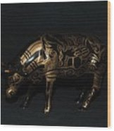 The Tattooed Cow Wood Print