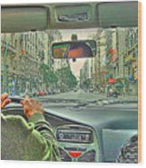 the Taxi Driver Wood Print