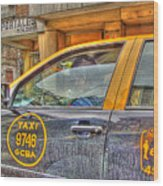 The Taxi Wood Print