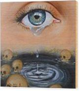 The Tear Wood Print