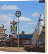The Tee-pee Curios On Route 66 Nm Wood Print