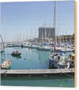 The Tel Aviv Marina  Wood Print