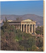 The Temple Of Hephaestus In The Morning, Athens, Greece Wood Print