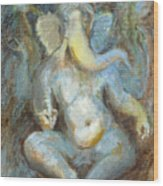 The Temple Of Love Ganesh Wood Print