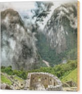 The Temple Of The Sun. Machu Picchu Wood Print