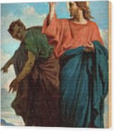 The Temptation Of Christ By The Devil Wood Print