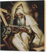 The Temptation Of Saint Anthony Wood Print